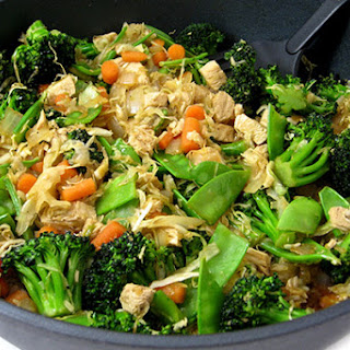Chicken and Veggies Stir Fry, Low Calorie and Super Yummy.