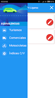 Screenshot of Equivalencias de Neumáticos