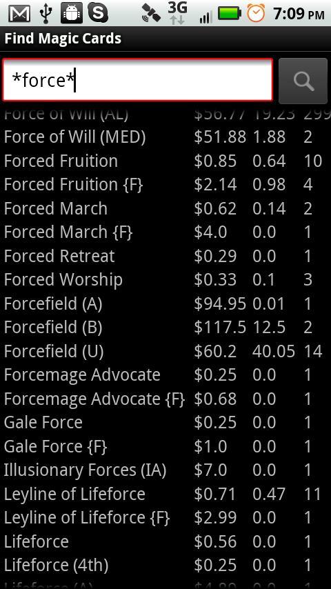 MtG Trader- screenshot