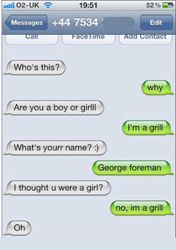 Funny Text SMS Messages