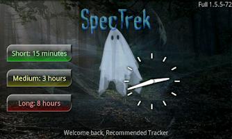 Screenshot of SpecTrek