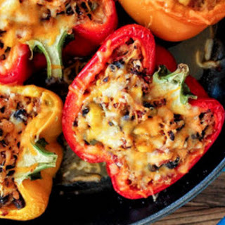 Southwestern Turkey and Quinoa-Stuffed Peppers