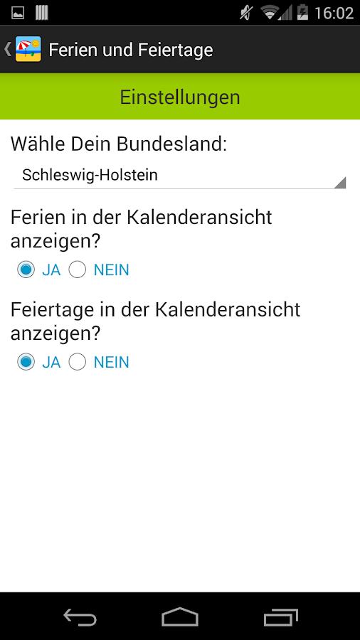 Deutsche Feiertage & Ferien- screenshot