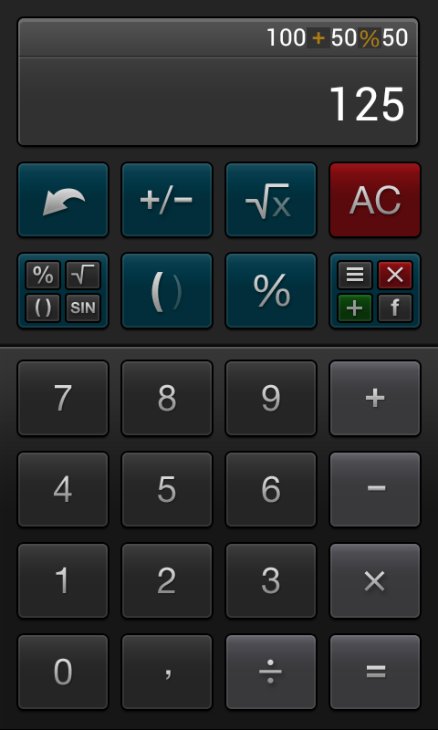 Percent Calculator- screenshot
