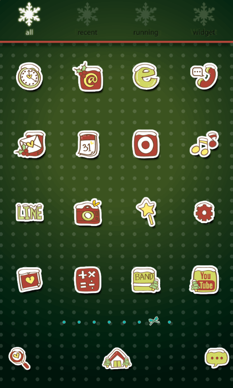 Umbrella Tree dodol theme - screenshot
