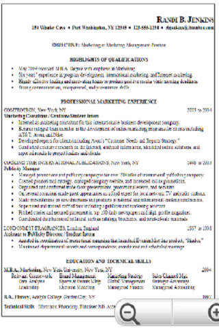interest section of resume