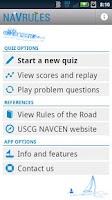Screenshot of NAVRULES Quiz