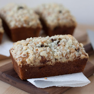 Streusel Topped Chocolate Chip Banana Bread.