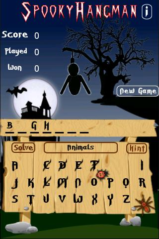 Spooky Hangman - screenshot