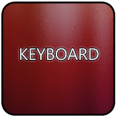 Red Glass Keyboard Skin