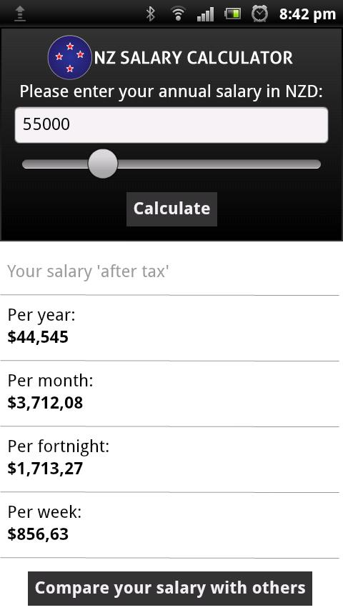 New Zealand Take Home Pay Calculator