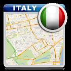 Italia offline mapa, hoja ruta icon