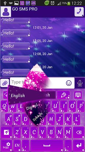 GO短信紫色星