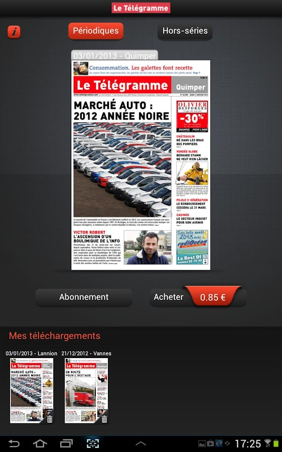 Le Télégramme - Journal - screenshot