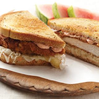 Rubbed Chicken Reuben Sandwiches.