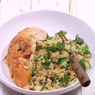 Chicken with Lemon and Warm Bulgur Salad with Thyme.