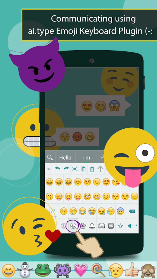 ai.type Emoji Keyboard plugin - screenshot