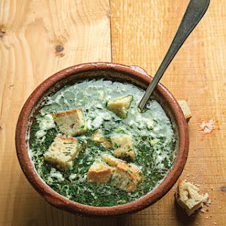 Açorda à Alentejana (Bread and Garlic Soup with Cilantro)