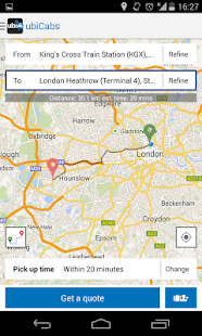 ubiCabs -Book taxis & minicabs - screenshot thumbnail