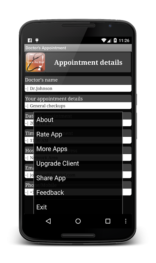 Doctor's Appointment Lite - screenshot