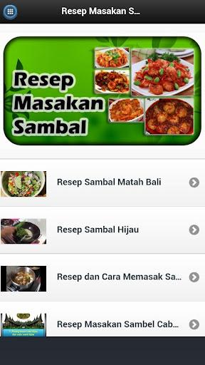 Resep Masakan Sambal
