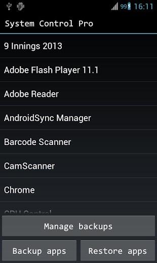 System Control Pro- screenshot