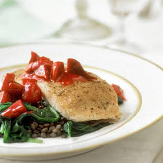 Salmon with Beets and Lentils.