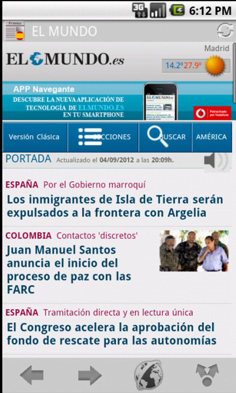 News & Magazines in Spain - screenshot