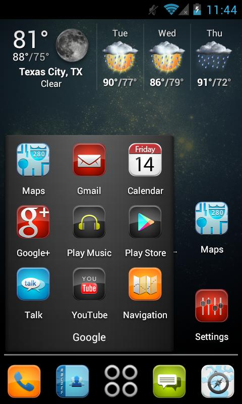 iDroid HD Apex Theme - screenshot