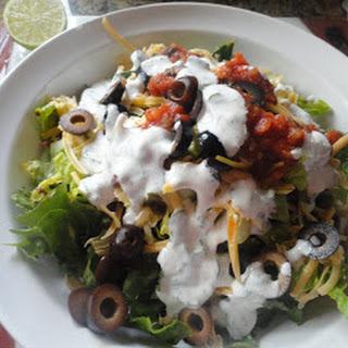 Taco Salad With Cilantro-Lime Ranch.