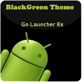 BlackGreen Go launcherEX Theme