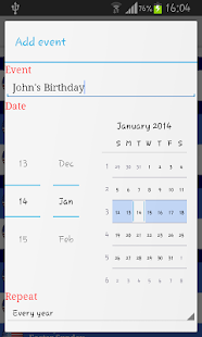 2014 Holidays Calendar - screenshot thumbnail