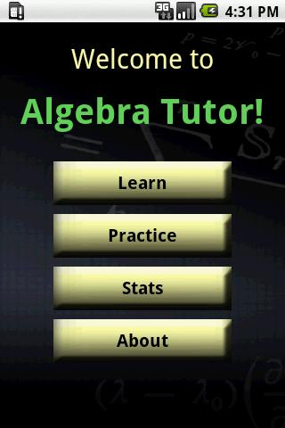Algebra Tutor - screenshot