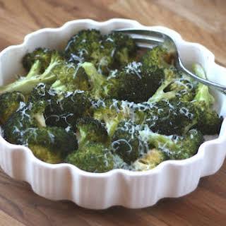 Roasted Broccoli with Pecorino Romano.