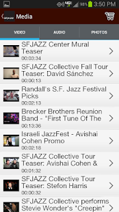 SFJAZZ - screenshot thumbnail