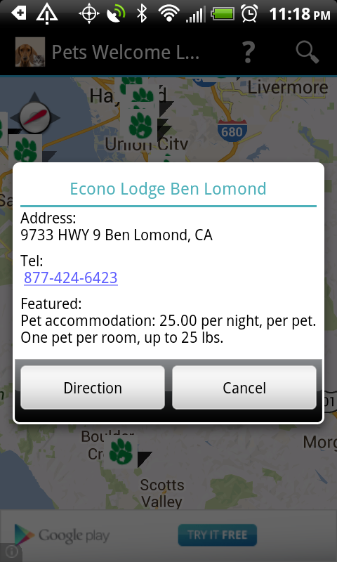 Pets Welcome Lodging - screenshot
