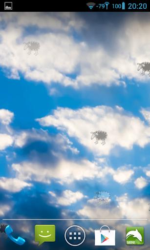 雲和羊住壁紙