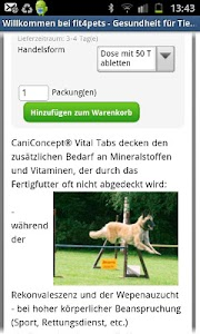 fit4pets - Onlineshop screenshot 2