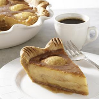 Caramelized Pear Custard Pie.