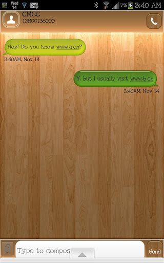 GO SMS - Wood Mix
