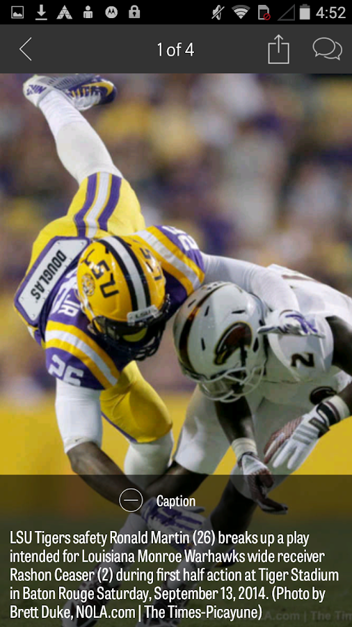 NOLA.com: LSU Football news- screenshot