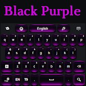Black and Purple Keyboard