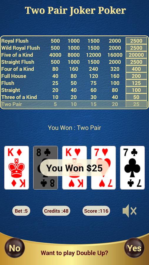 Java poker two pair