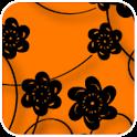 Floral Print Orange Theme icon