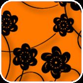 Floral Print Orange Theme
