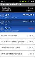 Screenshot of My Workout Routine