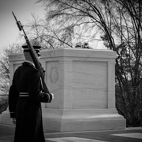 Duty First by Michelle Nolan - City,  Street & Park  Cemeteries ( memorial, cemetary, tomb of the unknown soldier, washington dc, arlington cemetary,  )