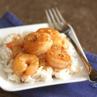 Spicy Orange Garlic Shrimp.