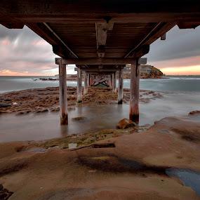 Bare Island by Michael Lucchese - Landscapes Waterscapes ( water, la perouse, waterscape, australia, long exposure, sunrise, seascape, bridges, bare island, sydney,  )