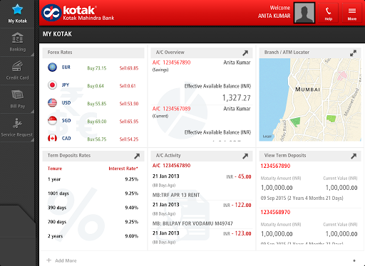 Kotak Bank for Tablet